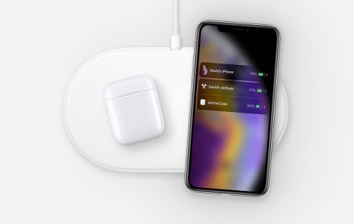 AirPower met iPhone XS en AirPods.