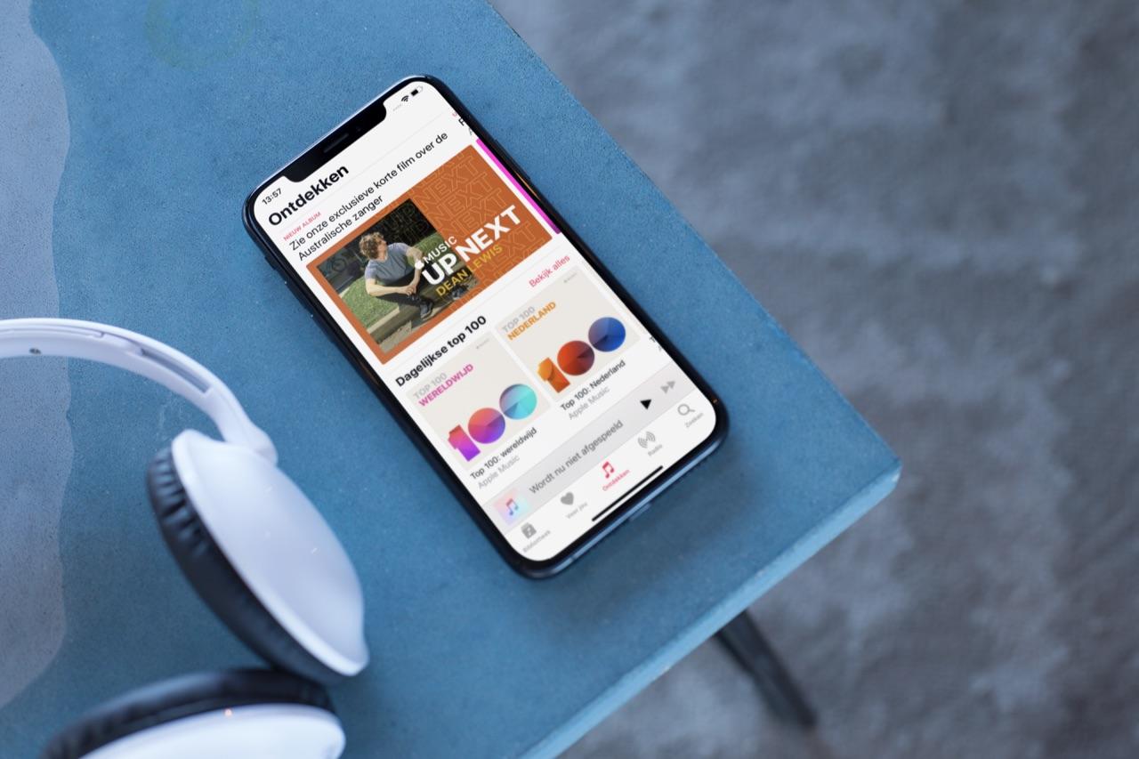 Ontdekken-pagina op Apple Music.