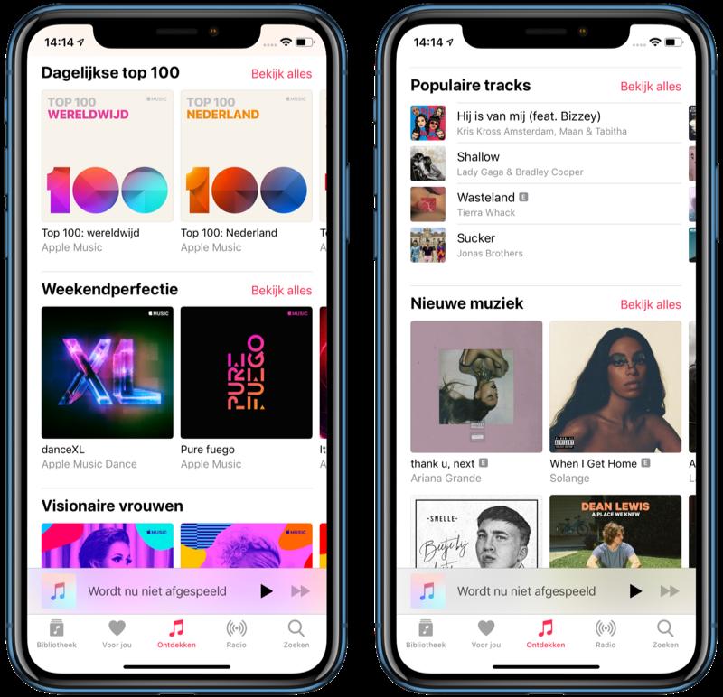 Apple Music Ontdekken met Top 100.