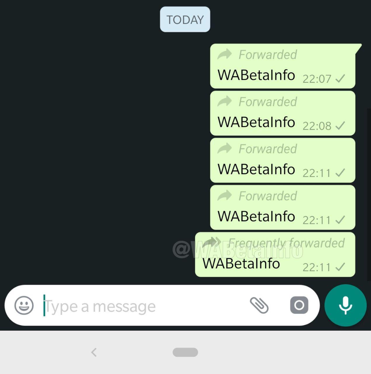 Vaak doorgestuurd WhatsApp-bericht.