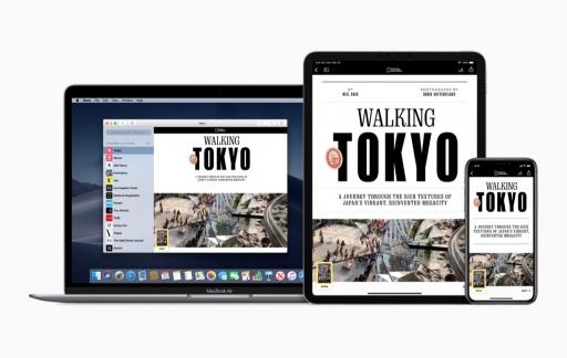 Apple News+ op verschillende apparaten.
