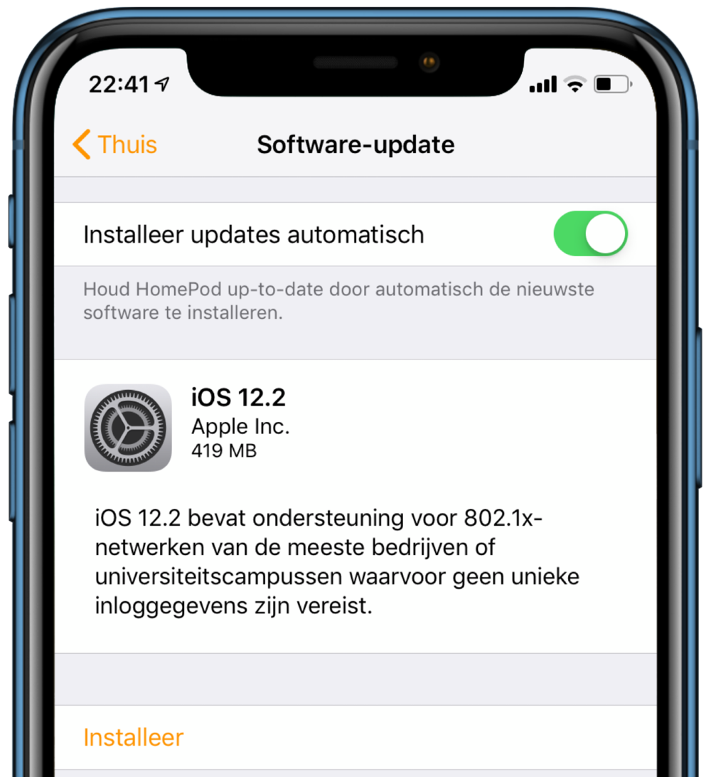 HomePod update iOS 12.2.