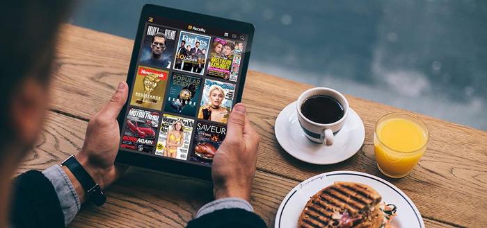 Readly app op een tablet