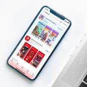 Reclame in de App Store in Nederland.