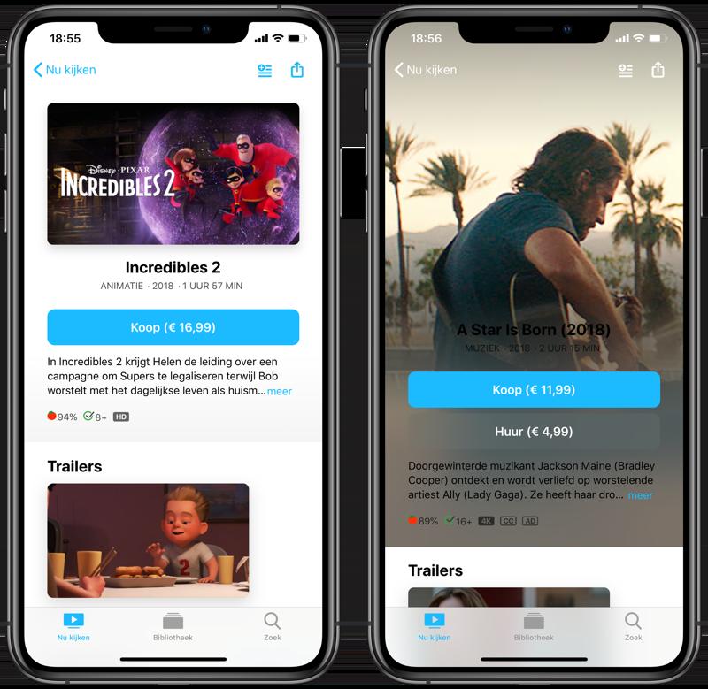 TV-app in Nederland: films huren en kopen