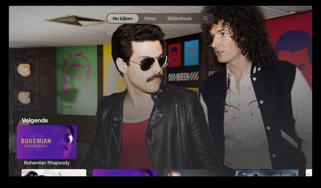 TV-app op Apple TV met Volgende.