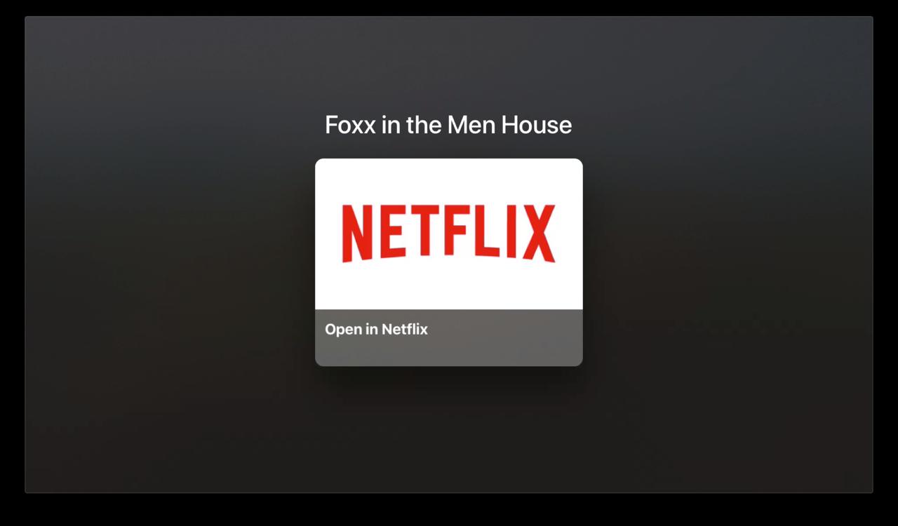 Netflix openen via TV-app.