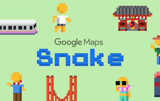 Snake met Google Maps.