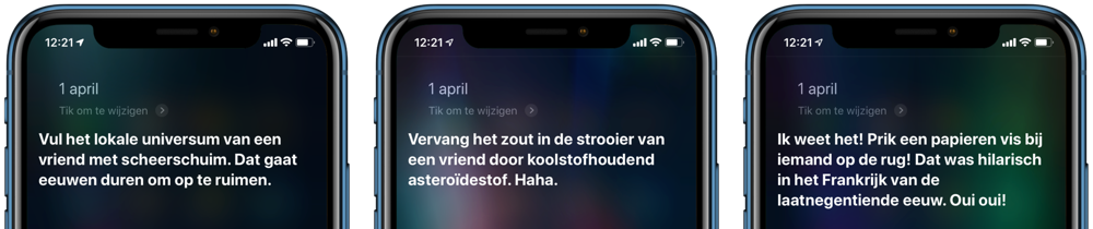 1 april-grappen met Siri.