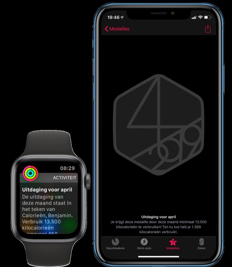 Apple Watch persoonlijke uitdagingen.