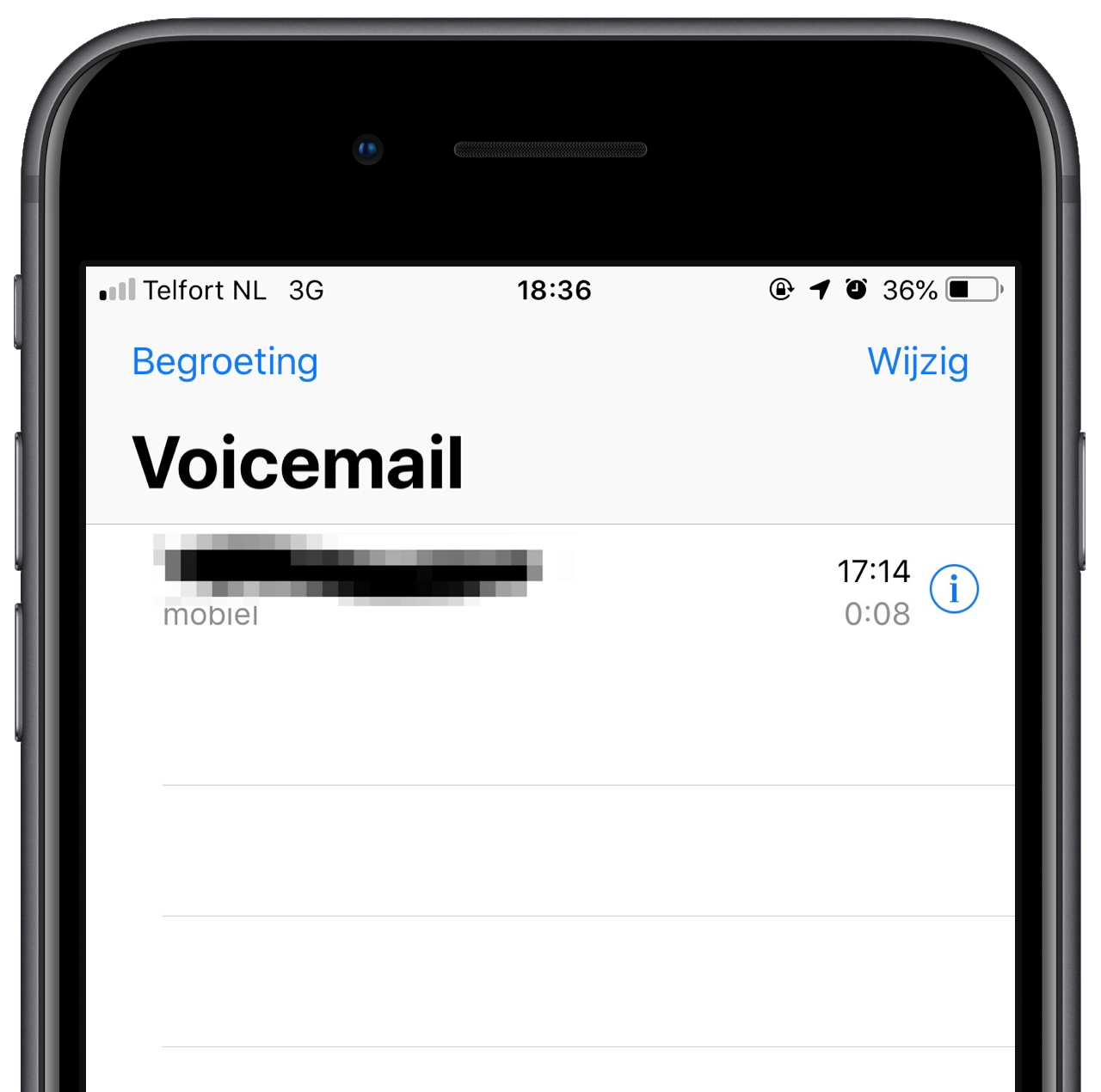 Telfort visual voicemail.