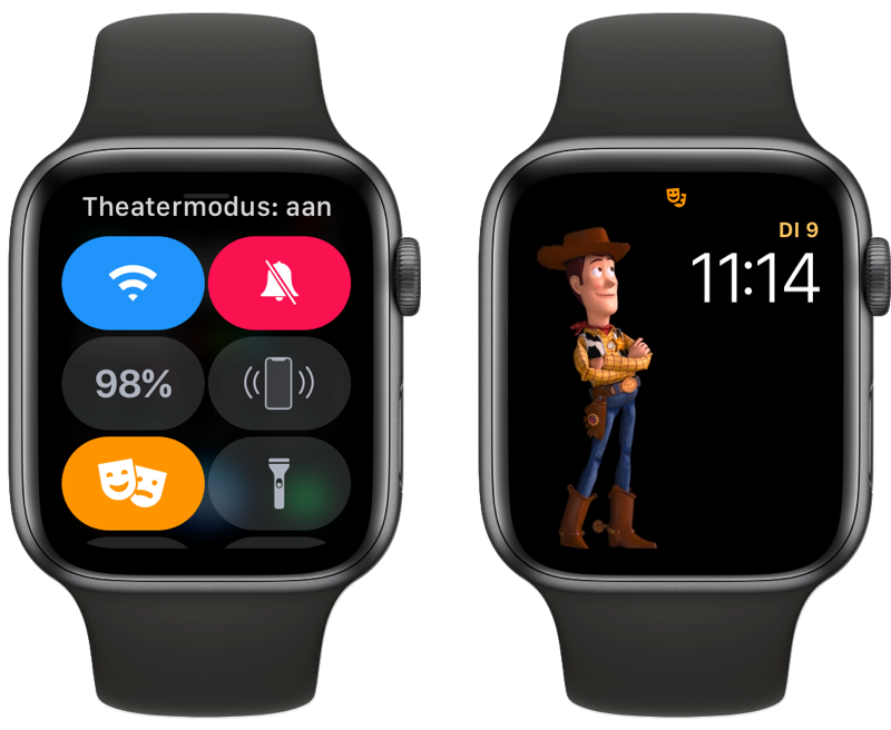 Apple Watch theatermodus.