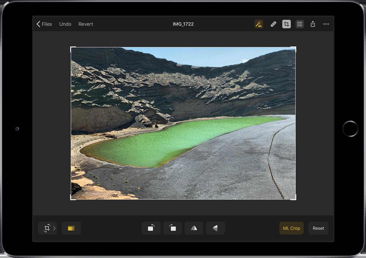 Pixelmator Photo bewerken met machine learning.