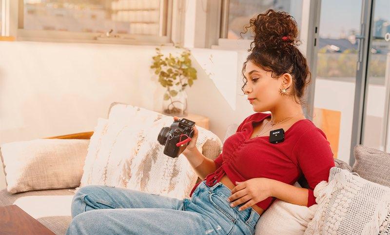 Rode Wireless Go clip-on op kleding