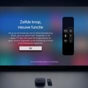 Apple TV thuisknop functie.
