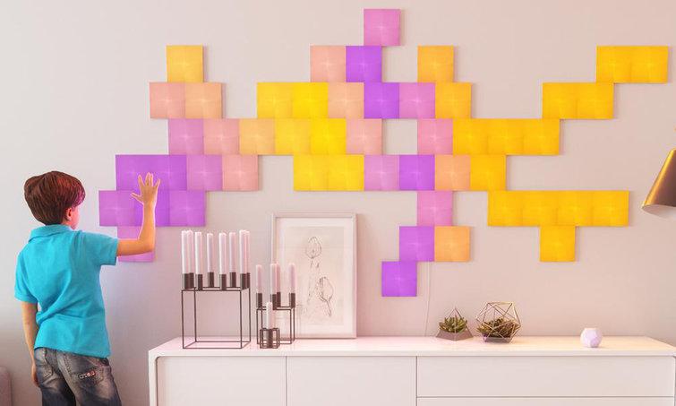 Nanoleaf Canvas review: groot patroon op muur