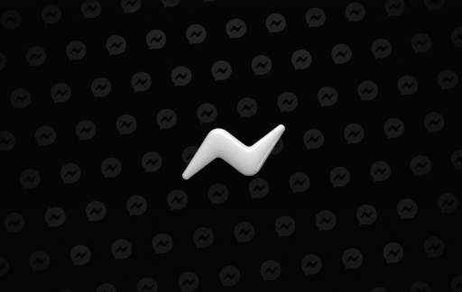 Facebook Messenger dark mode logo.