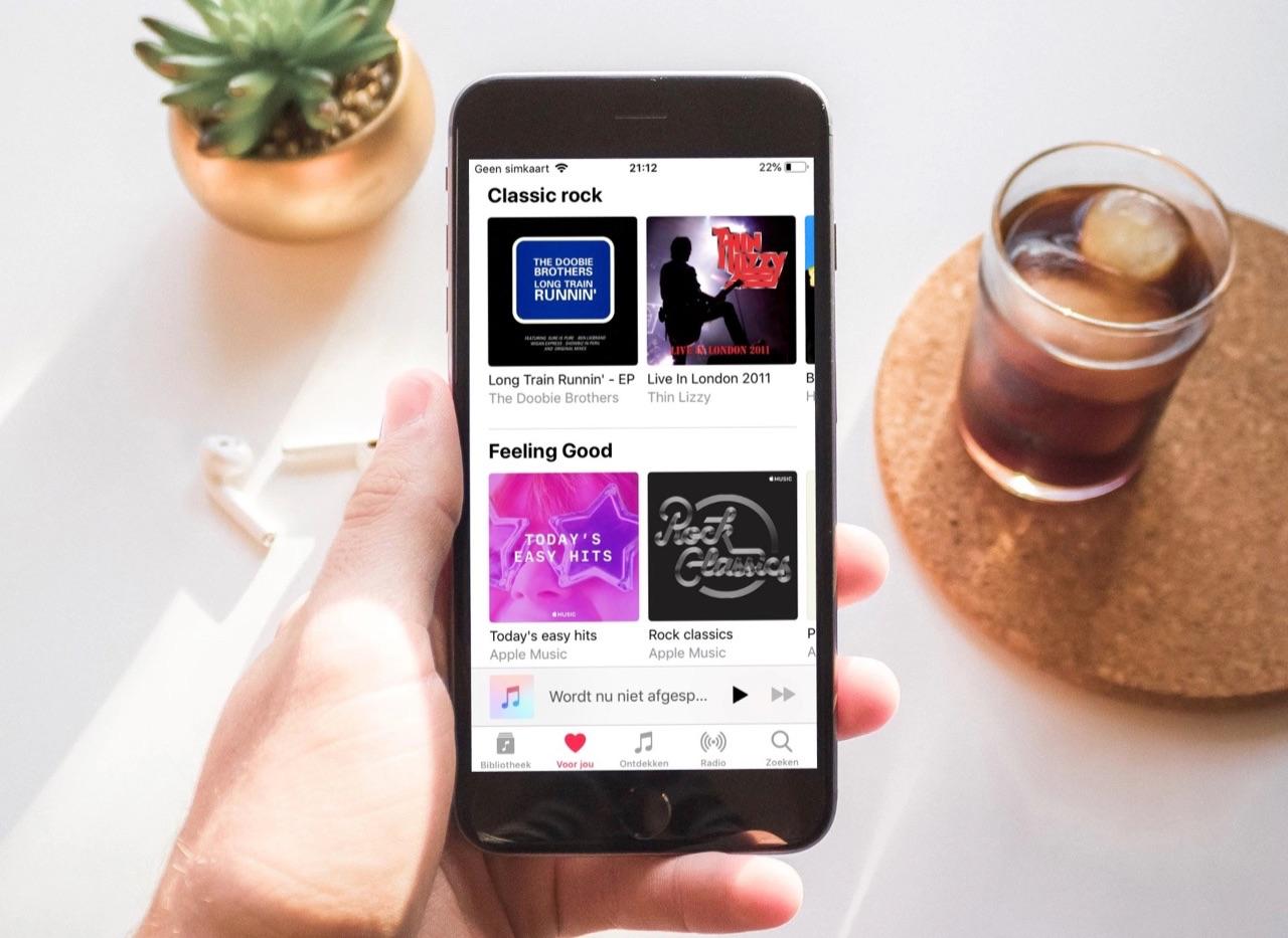 Apple Music Voor jou-pagina.