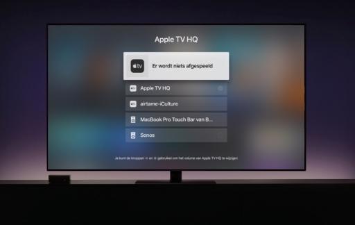 Apple TV speakers kiezen.