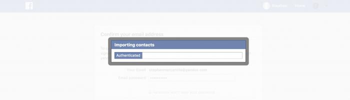 Facebook contacten importeren