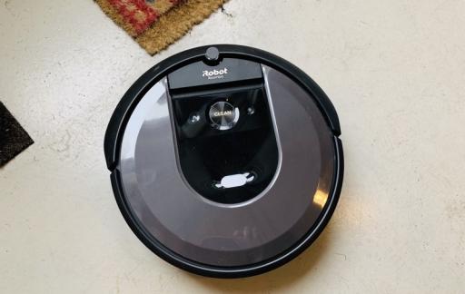 Roomba i7 review: bovenaanzicht van de stofzuiger