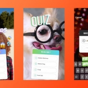 Instagram-quiz met multiple choice