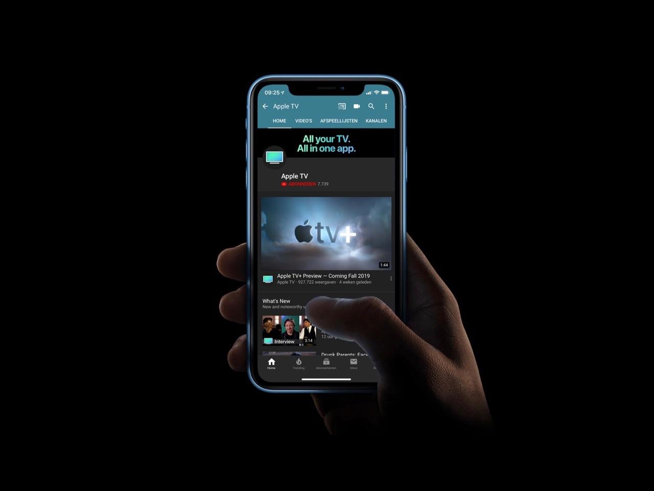 YouTube-kanaal van de TV-app.