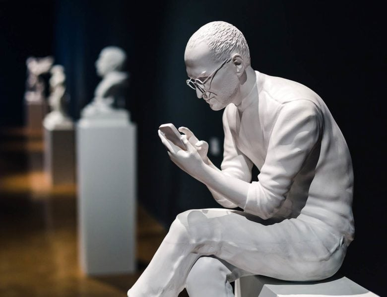 Steve Jobs sculptuur 'The Prophet'