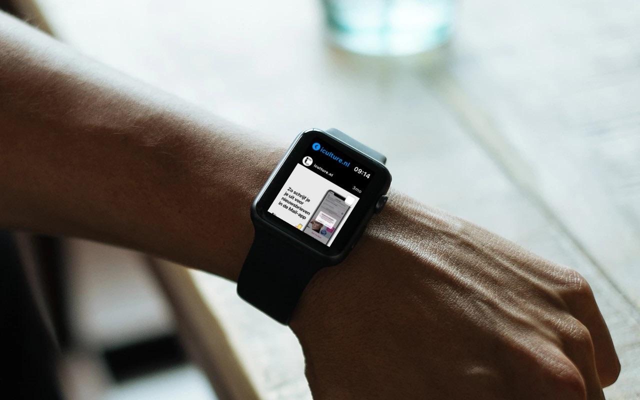 Lens Instagram-app op Apple Watch.