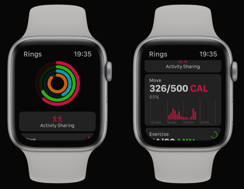 watchOS 5 concept met Activiteit-app.