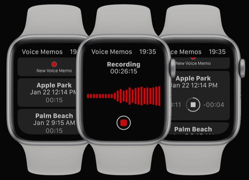 watchOS 6-concept met dictafoon.