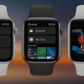 watchOS 6-concept met Hart- en Foto's-app en wijzerplaat.