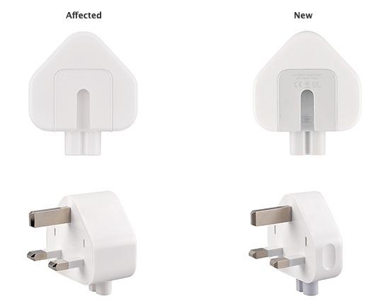 Nieuwe en oude Britse Apple-stekker.