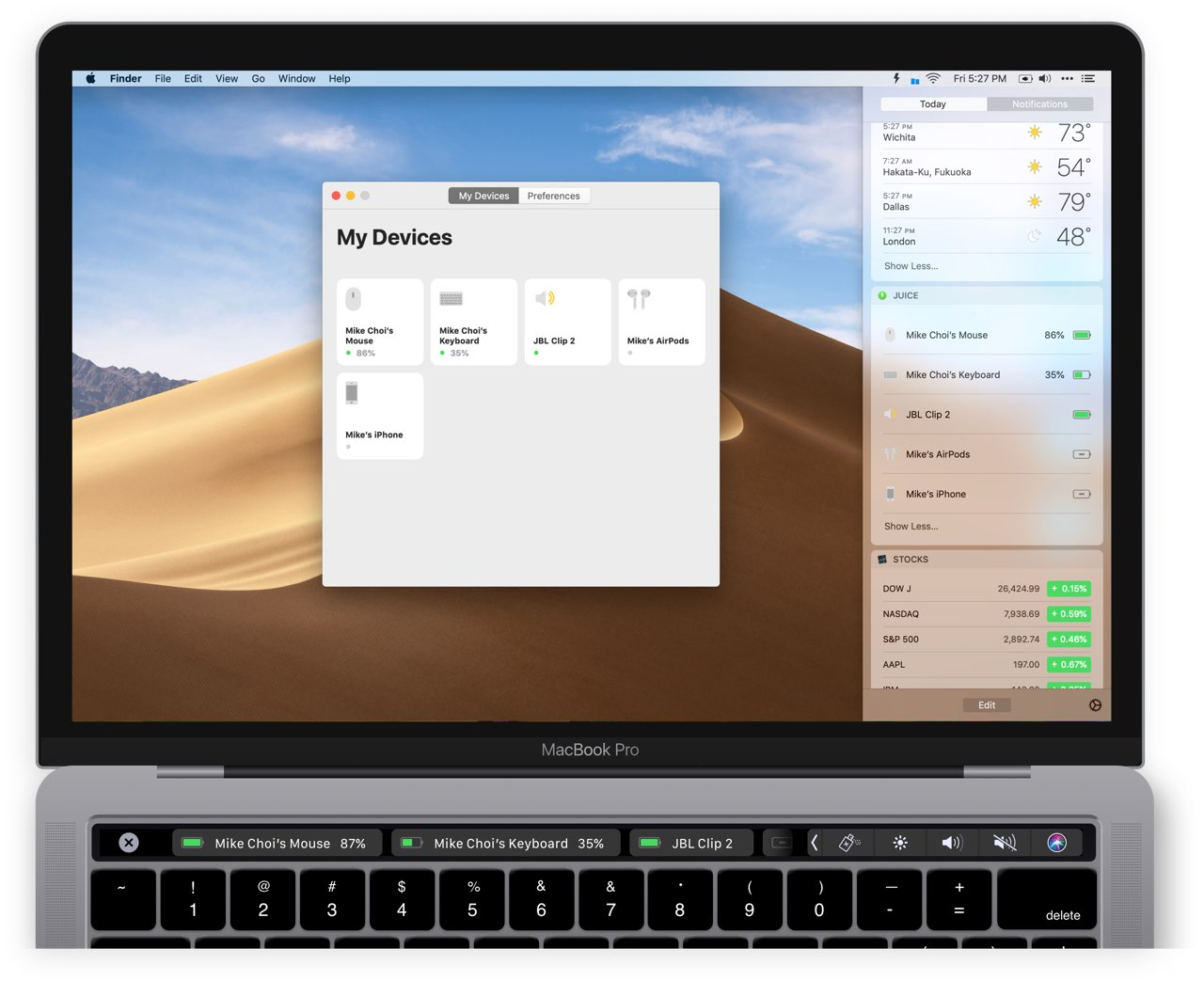 Juice app op de Mac
