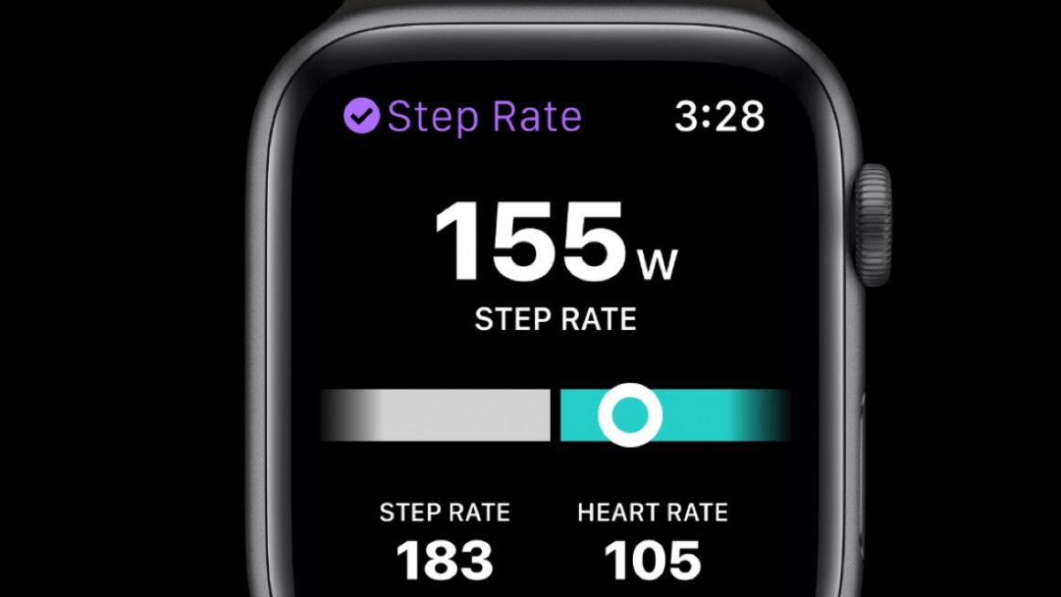 Podium-app op Apple Watch