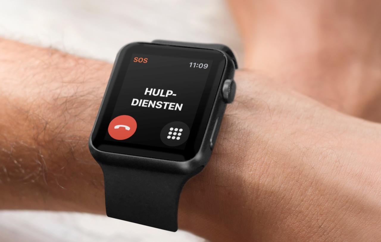 SOS-noodmelding op Apple Watch bellen.