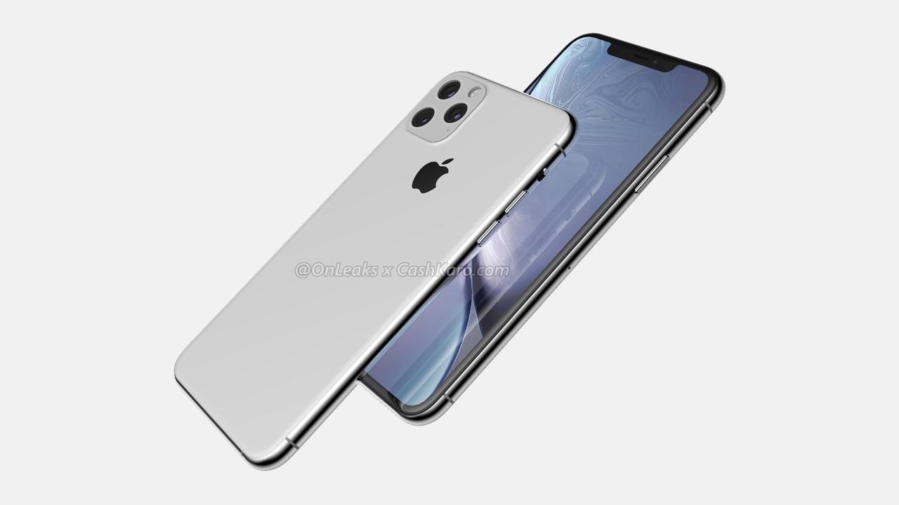 iPhone 11 Max concept met zijkant.