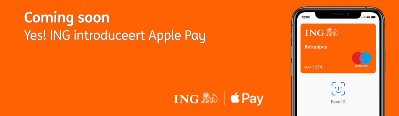 ING binnenkort met Apple Pay.