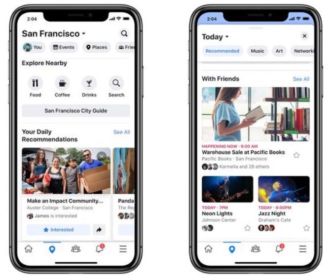 Facebook-app vernieuwd met groepen en evenementen.