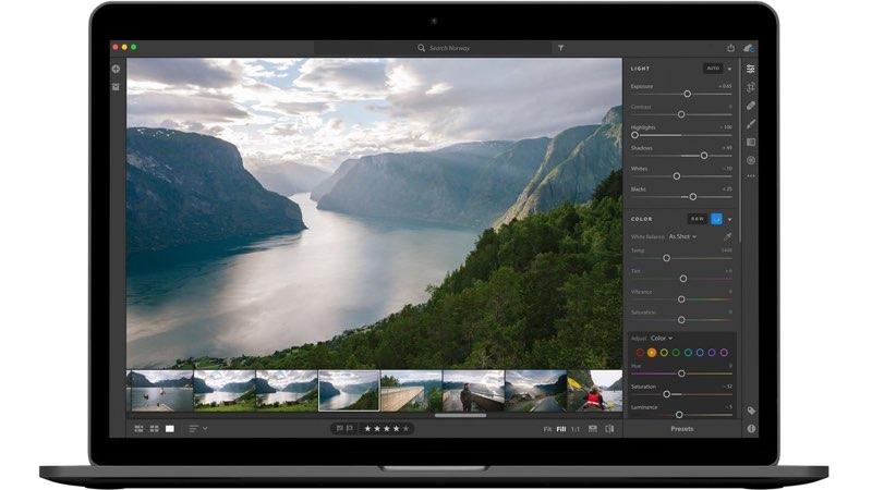 Lightroom CC op MacBook