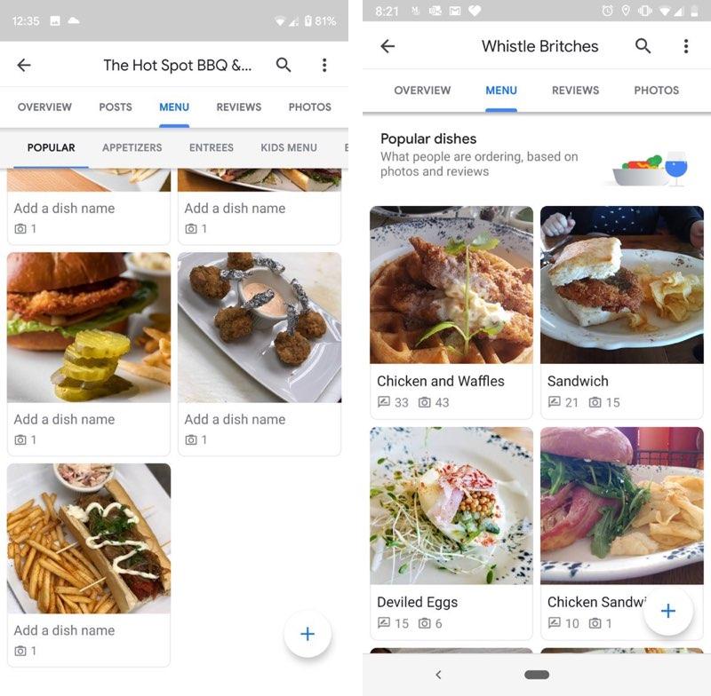 Google Maps menukaartfotos