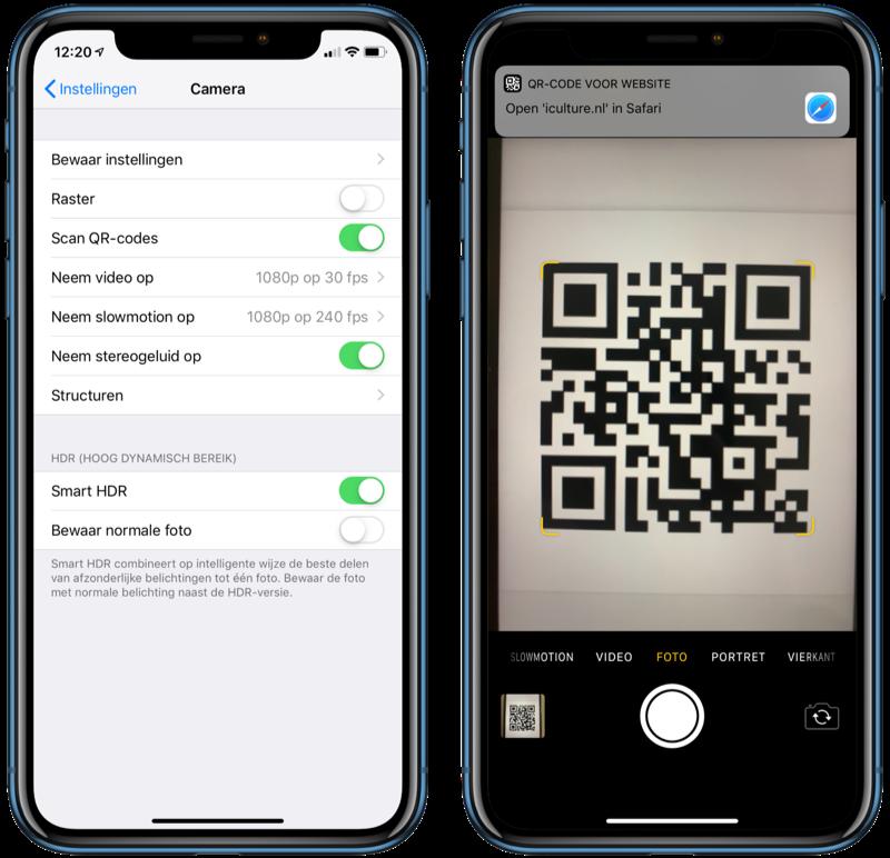 QR-codes scannen met iPhone Camera-app: uitleg en geschikte