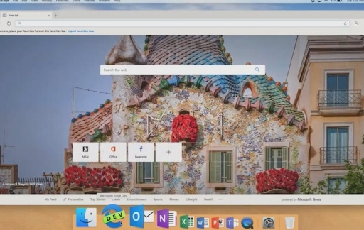 Microsoft Edge preview op macOS