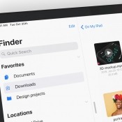 Finder voor iPad in iOS 13-concept.