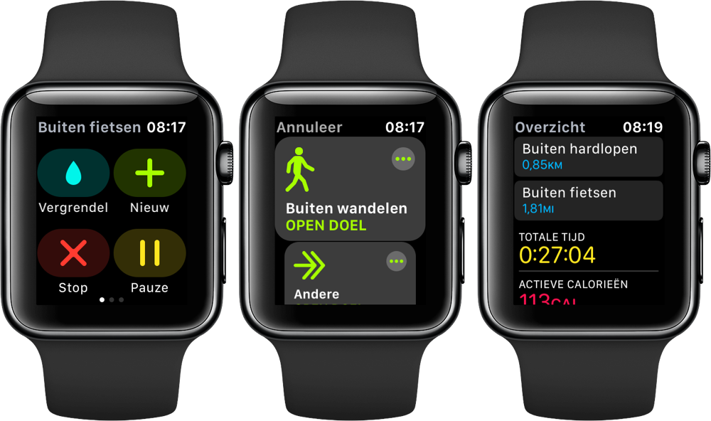 Workouts combineren op Apple Watch