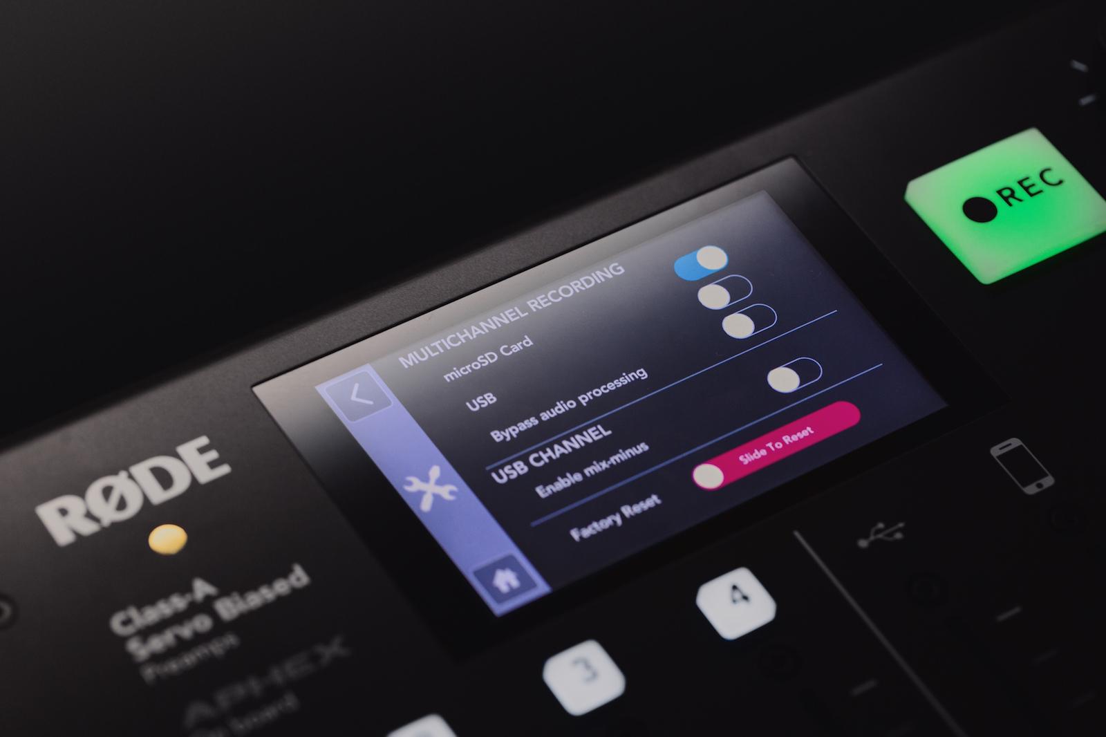 Multichannel-opname maken met de RØDECaster Pro