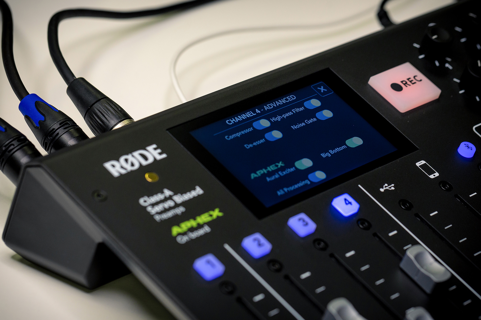 Soundprocessing in de RØDECaster Pro