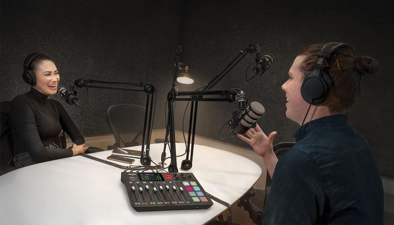 Podcaststudio met de RØDECaster Pro