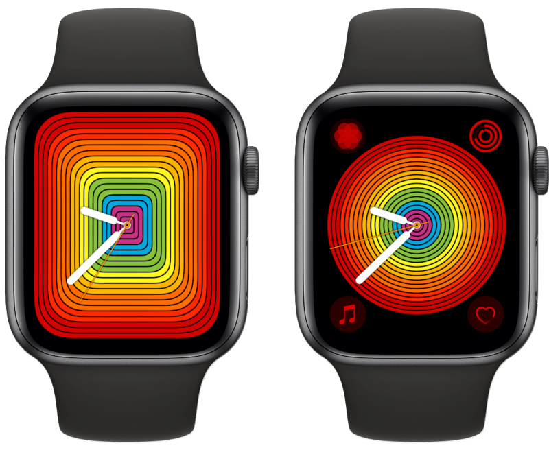 Apple Watch Pride wijzerplaat analoog.