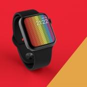 Zo ziet de vernieuwde Apple Watch Pride-wijzerplaat in watchOS 5.2.1 eruit